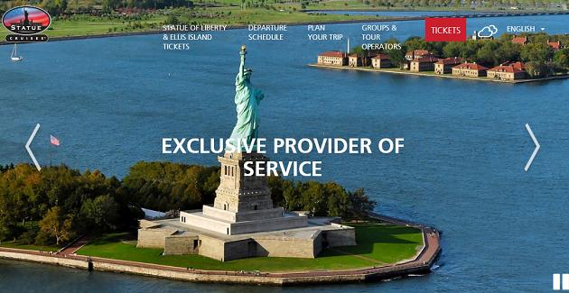 2016年版 自由の女神 Statue of liberty チケット予約 new york top