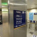 マンチェスターからロンドン へ(バージン・トレインのペンドリーノ乗車)toilet